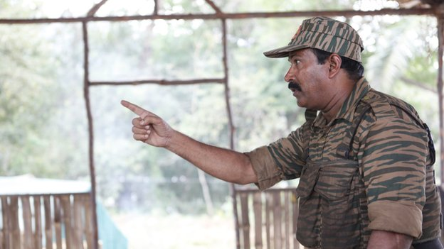 Tamil Tiger leader Prabhakaran in the film