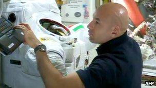 Astronaut Luca Parmitano, 17 Jul 13