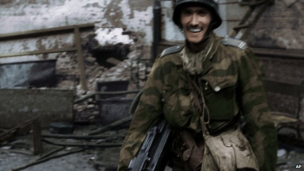 Colour film of Warsaw Uprising