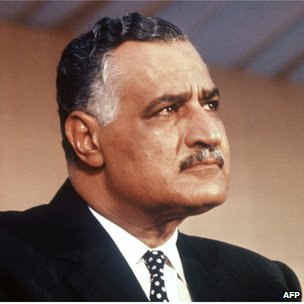 Picture dated from the 1950s in Cairo of Egyptian President Gamal Abdul Nasser (1918-1970)