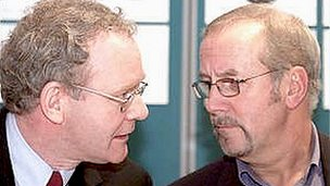 Martin McGuinness meets Colin Parry in 2001