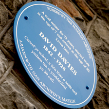 David Davies blue plaque