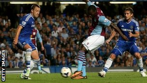 Christian Benteke levels for Aston Villa