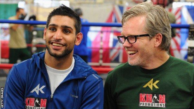 Amir Khan and Freddie Roach