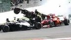 Crash at Spa