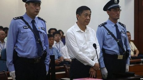 Bo  Xilai  in the courtroom