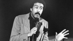 Richard Pryor on stage mid-gag