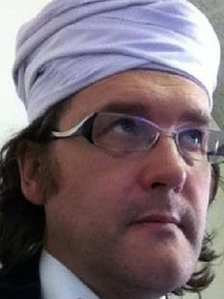 Head teacher Tim Luckcock wearing a turban
