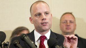 David Coombs, defence attorney for Army Pfc. Bradley Manning, speaks at a news conference in Hanover, Maryland 21 August 2013
