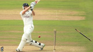 Jonny Bairstow bowled by Andre Adams