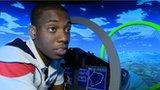 Lutalo Muhammad on a simulator
