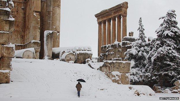 Roman ruins in Baalbek