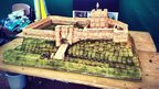Model of Carlisle Castle made out of custard creams