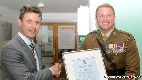 Crown Prince of Denmark and WO1 Andy Peat