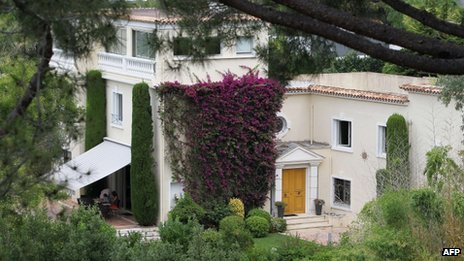 "file photo taken on August 8, 2013 shows the ""Villa fontaine Saint-Georges"" in south-east France"