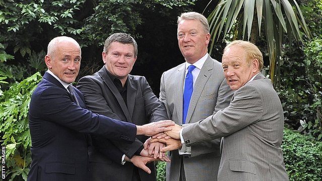 Barry McGuigan, Ricky Hatton, Frank Warren and Frank Maloney