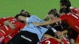 England celebrate victory over Netherlands