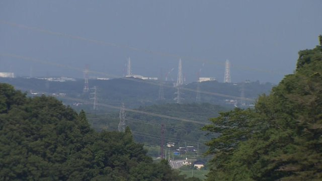 View from mountains of Fukushima nuclear plant