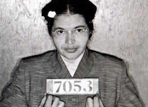 Arrest photo of Rosa Parks
