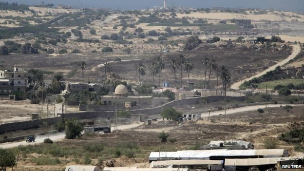 The border area between Egypt and the southern Gaza Strip is seen in this general view 19 August, 2013.