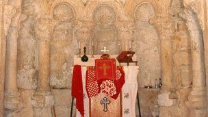 Inside a Syriac church