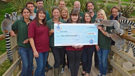 Mountain zoo lottery winners