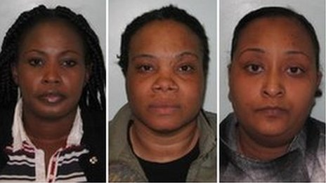 (L-r) Akousa Sakyiwaa, Annette Jackson, Sharmila Gunda