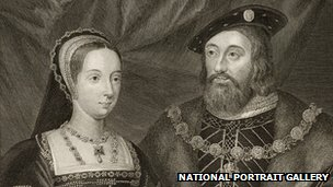 Etching of Mary Tudor and Charles Brandon