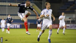 Kenny Miller scores against Cyprus