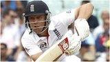 England batsman Jonathan Trott digs in