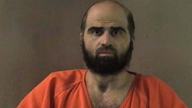 Nidal Hasan is pictured in an undated Bell County Sheriff's Office photograph