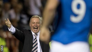 Rangers manager Ally McCoist was thrilled with Jon Daly's brace against Airdrie