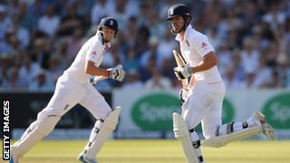 England opening batsmen Joe Root (left) and Alastair Cook have had just one fifty-run partnership