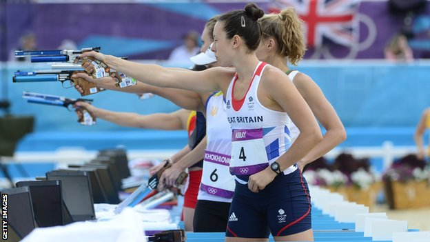 Samantha Murray won silver at the London Olympics
