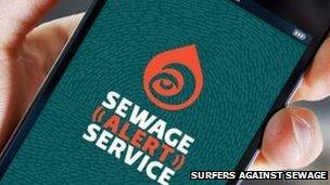 Surfers Against Sewage alert service. Pic: SAS