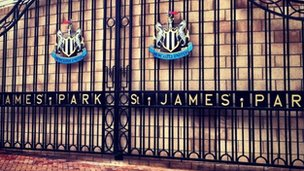 The gates at St James' Park