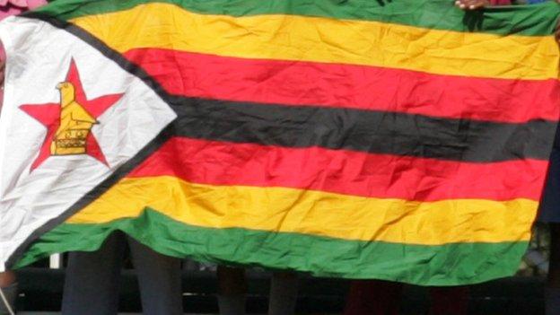 A Zimbabwe flag