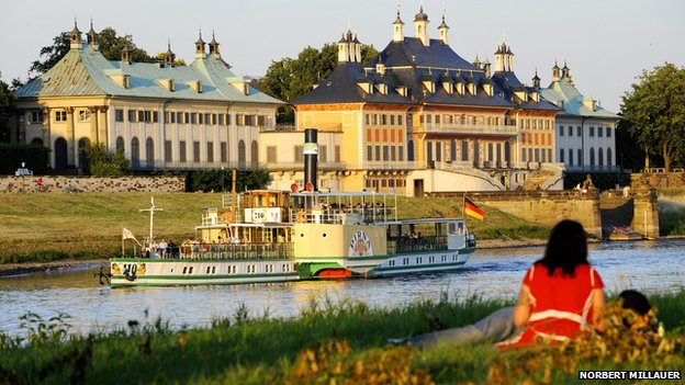 Pillnitz Palace on the banks of the River Elbe, Dresden (file photo)
