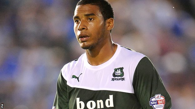 Plymouth Argyle striker Reuben Reid