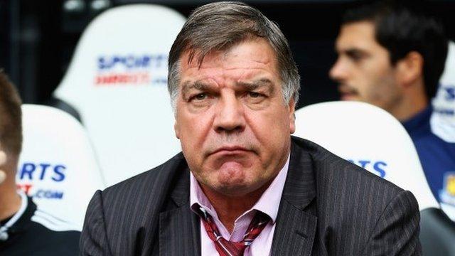 West Ham boss Sam Allardyce