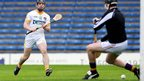 Ciaran Clarke scores a goal for Antrim against Wexford in the semi-finals of the All-Ireland Under-21 Championship