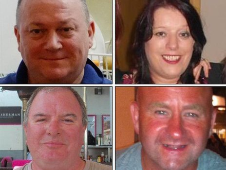 Clockwise from top left: George Allison, 57, Sarah Darnley, 45, Duncan Munro, 46, Gary McCrossan, 59