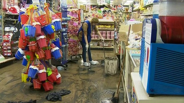 Cleaning up flood damage in Southend