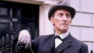 Peter Cushing at Sherlock Holmes