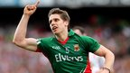 Lee Keegan celebrates after scoring a point in Mayo's 1-16 to 0-13 semi-final victory over Tyrone