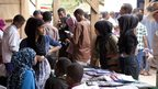 Young people browsing books at the book fair - Hargeisa, Somaliland