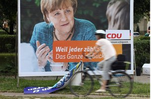 CDU election poster showing Angela Merkel