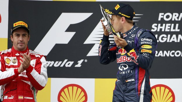 Fernando Alonso (left) and Sebastian Vettel