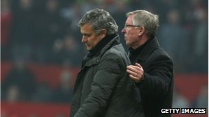 Jose Mourinho and Alex Ferguson