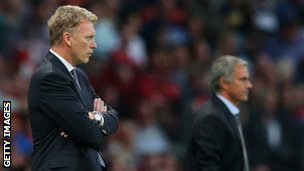 David Moyes (left) and Jose Mourinho